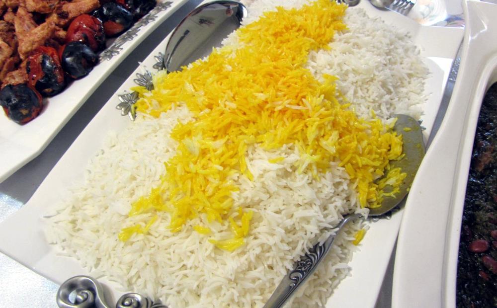 Riz blanc au safran