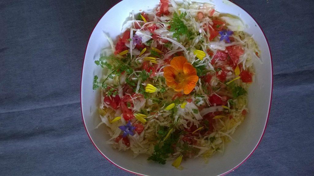 Salade fleurs